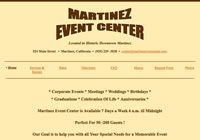 Martinez Event Center in historic downtown Martinez, CA is now available for your special occasions.  Full Service Catering is now available.