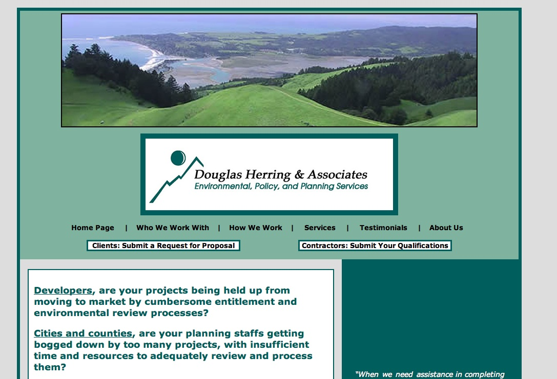 Douglas Herring & Associates (DHA) works with public agencies, developers, and other businesses in California to expertly obtain the environmental and planning approvals needed to move projects from the conceptual stage to physical...