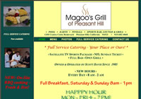 Magoo's Grill of  Pleasant Hill has been owned and operated by Scott Davis since 1985 and has become a landmark in the neighborhood. Full Service Catering is now available.